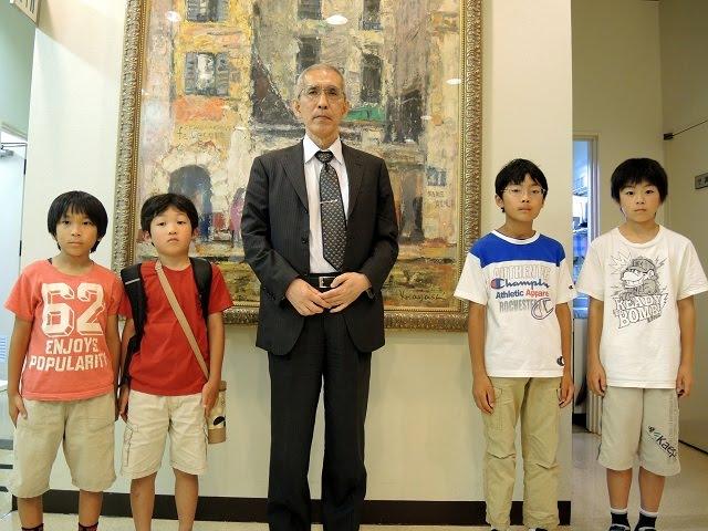 奥村秀夫八段とこども棋聖戦成績優秀者
